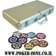 מזוודה לפוקר 300 ז'יטון Poker Club חימר